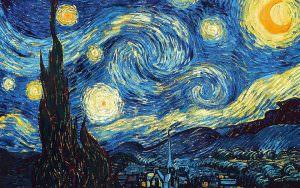Schilderij in de nacht