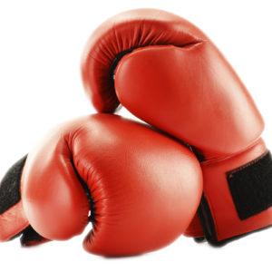 Rode bokshandschoenen