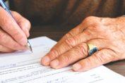 Ondertekening testament